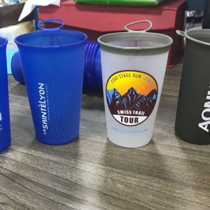 Reusable Collapsible Soft Cup for Running Races with custom logo
