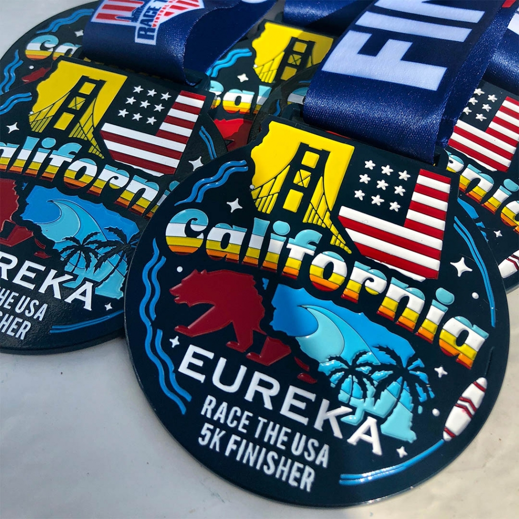 Round Finisher Medal State of California