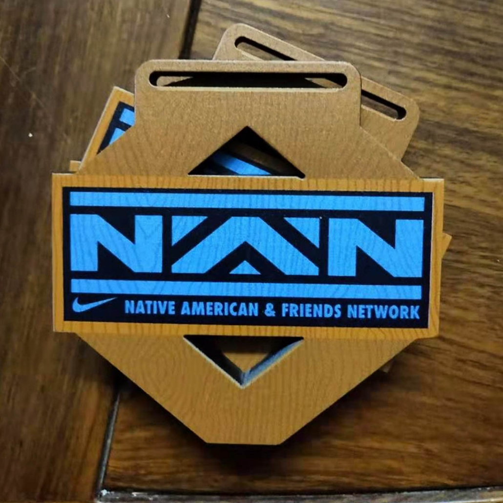 Nike NAN Custom Wood Finisher Medal